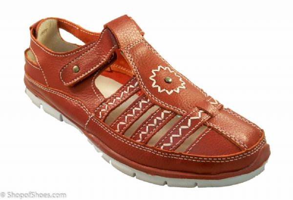Great value red lightweight comfortable fun summer shoe.